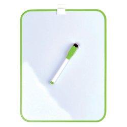 Whiteboard Desq 21.5x28cm + marker groen profiel