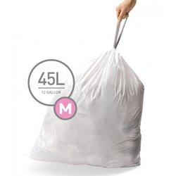 Afvalzakken 45 liter (m) Wit Simplehuman pak v. 20 st.