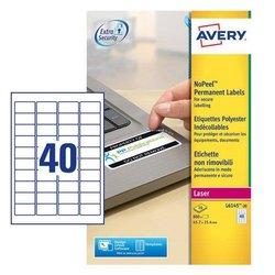 Etiketten Anti-fraude L6145-20 NoPeel 45,7x25,4mm Wit permanent klevend (800)