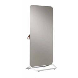 Chameleon Mobile verrijdbaar dubbelzijdig wit glasbord/grijs bulletinboard