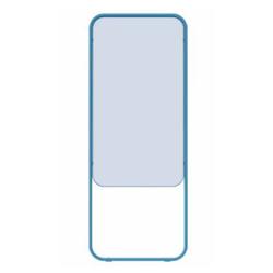 Chameleon Momentum verplaatsbaar dubbelzijdig whiteboard blauw emaille