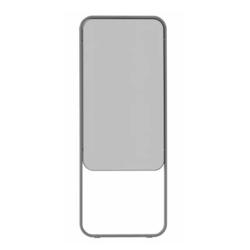 Chameleon Momentum verplaatsbaar dubbelzijdig whiteboard grijs emaille