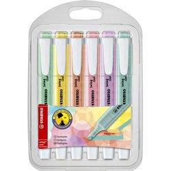 Markeerstift STABILO Swing Cool 275/6-08 pastel etui à 6 kleuren