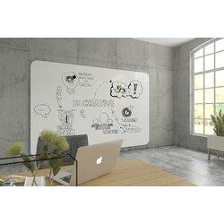 Whiteboardwand VisuWall 294x198cm - 3 delen - afgeronde hoeken