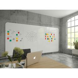 Whiteboardwand VisuWall 392x198cm - 4 delen - afgeronde hoeken