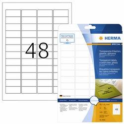 Etiket Herma 8016 45.7x21.2mm 1200st transparant