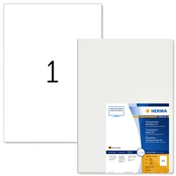 Etiket Herma 8694 A3 297x420mm 50st transparant