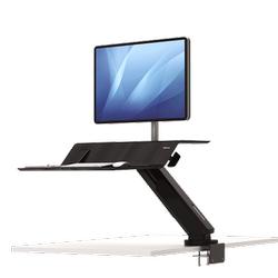 Lotus RT Zit-Sta werkstation zwart Fellowes voor 1 monitor