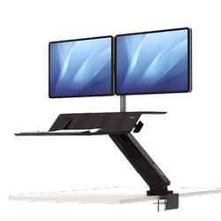Lotus RT Zit-Sta werkstation zwart Fellowes voor 2 monitoren
