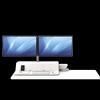 Lotus RT Zit-Sta werkstation wit Fellowes voor 2 monitoren