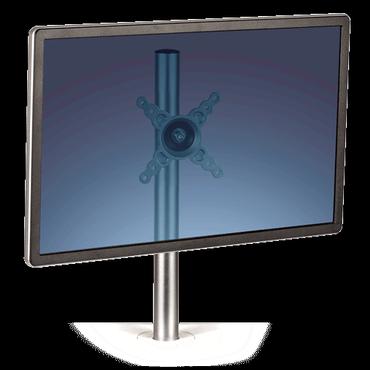 Beeldschermarm enkel Lotus Zit-Sta werkstation wit Fellowes voor 2 monitoren