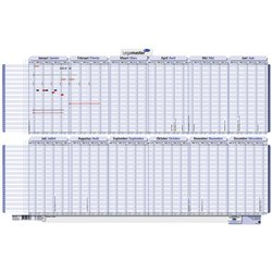 Projectplanner 2021 Legamaster 60x90cm gelamineerd