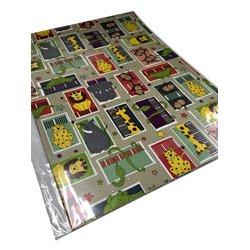 Inpakpapier gevouwen dieren 70x100cm