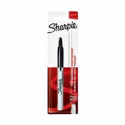 Viltstift Sharpie rond 0.9mm drukknop zwart blister à 1 stuk