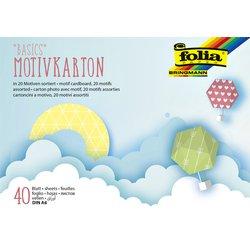 Fotokarton met motief Folia A6 pak à 40 vel dessin