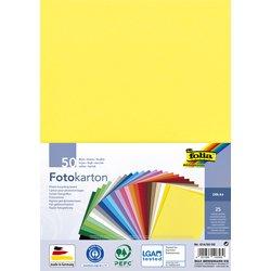 Fotokarton Folia A4 pak à 50 vel ass