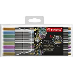 Viltstift STABILO Pen 6808/8-11 metallic etui à 8 kleuren