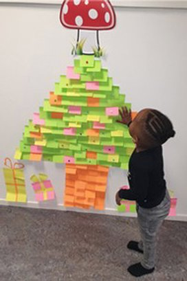 KDV de Paddestoel winnaar Post-it Christmas Challenge!