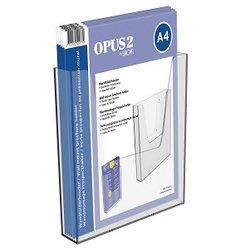 Folderbakje OPUS 2 wand A4 transparant