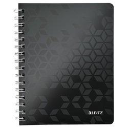 Notitieboek Leitz WOW A5 lijn spiraal PP zwart