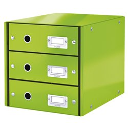Ladenbox Leitz WOW Click & Store 3 laden groen
