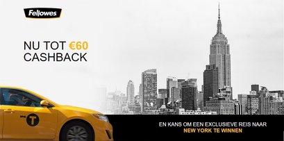 Fellowes Cashback Actie | Win een reis naar New York!