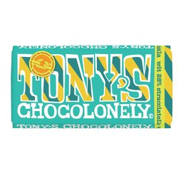 Chocolade Tony's Chocolonely reep 180gr wit straciatella