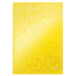 Notitieboek Leitz WOW A4 lijn geel
