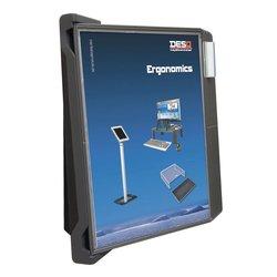 Bureaustandaard DesQ met 10 display panelen 4505
