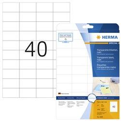 Etiket Herma 4684 A4 52.5x29.7mm 1000st folie transparant mat