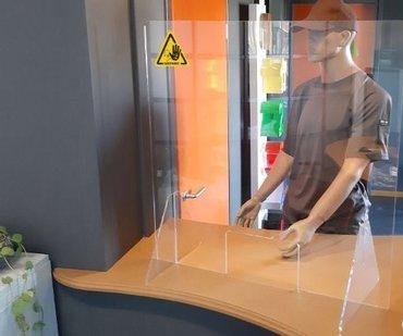 Baliescherm Veiligheidsscherm Transparant 750x800mm
