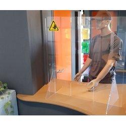 Baliescherm transparant 75x80cm veiligheidsscherm