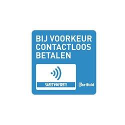 Sticker 'Contactloos betalen' Gelamineerd vinyl 100*100 mm