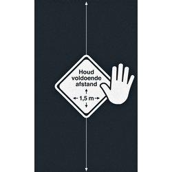 Deurmat afstand houden 90x150cm
