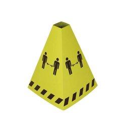 Waarschuwingspylon karton 1.5 meter geel - zwart
