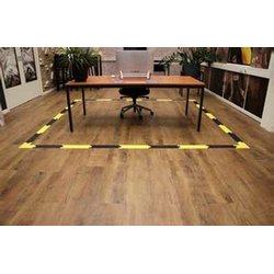 Social Distance vloerklever vierkant voor gladde vloeren