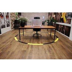 Social Distance vloerklever cirkel voor gladde vloeren