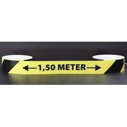 Anderhalve meter maatsticker Afmeting 150 x 5 cm T.b.v. glad vloeroppervlak verpakt per 10 stuks