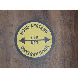 Vloerstickers 'Houd afstand 1,5 meter' T.b.v. vloerbedekking inhoud 10 stickers