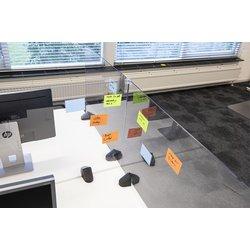 Scheidingsscherm 58x120cm plexiglas voor bureau/tafel, incl. 2x bureauklem dubbel bureau