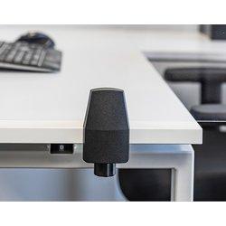 Bureauklem enkel bureau / eindstuk t.b.v. Scheidingsscherm Bureau/Tafel