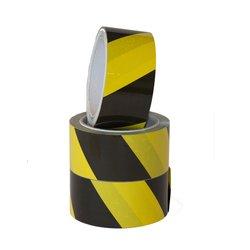 Waarschuwingstape Budget zwart/geel 50mmx66m