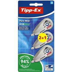Correctieroller Tipp-ex 5mmx6m ecolutions pure mini blister 2+1 gratis