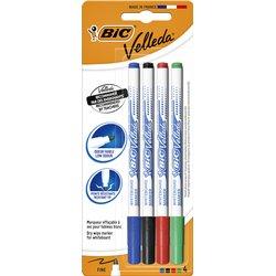 Viltstift Bic 1721 whiteboard rond 1.5mm blister à 4 stuks assorti