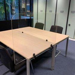 Transparant bureauscherm met klemmen   1000 mm * 650 mm