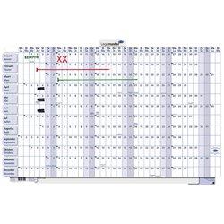Jaarplanner 2021 Legamaster 60x90cm horizontaal oprolbaar