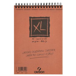 Schetsblok Canson XL A5 60v 90gr spiraal