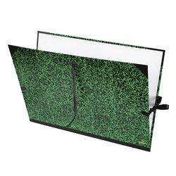 Tekenmap Canson 52x72cm kleur groen annonay sluiting met linten