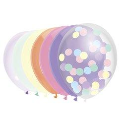 Ballon Haza uni 30cm 10 stuks pastel assorti