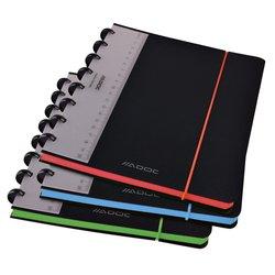 Schrift Adoc Coloredge A5 ruit 4x8mm 144blz 90gr PP zwart